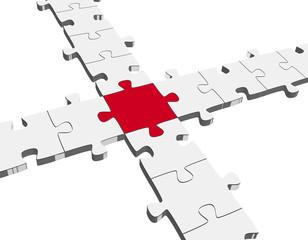 Puzzle - Verbindung / Teamwork