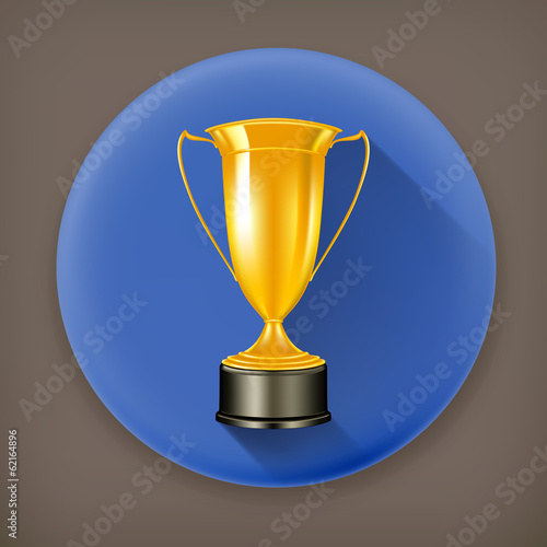 Gold Cup2, long shadow vector icon