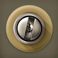 Keyhole, long shadow vector icon