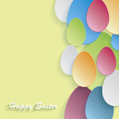 Modern beautiful Easter background with colorful eggs