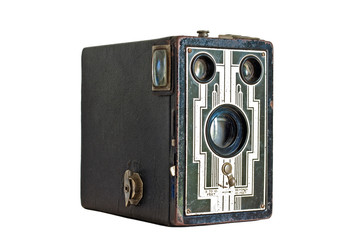 antique camera of cardboard
