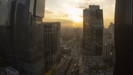 Seoul City Downtown Sunset
