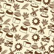 Seamless pattern with agricultural objects.
