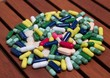 Heap of colorful pills