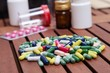 Colored pills for effective treatment