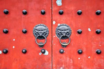 Portes du temple Baiyun, Shanghai, Chine