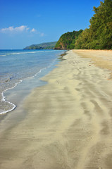 Serene view on the tropical sandy beach, Tarutao Island