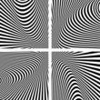 Illusion textures set. Abstract op art backgrounds