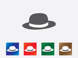 Hat icons illustration