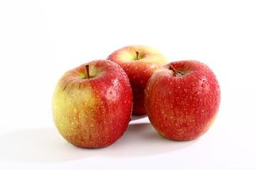 Dreiergruppe Äpfel
