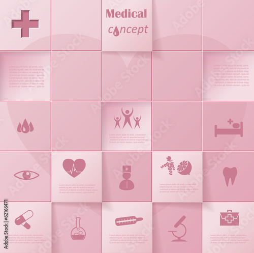 Modern vector infographic template design medical
