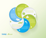 Modern vector ecology infographic template design for your prese
