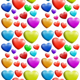 A seamless colorful heart pattern