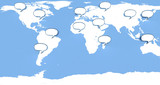 Social network on global map