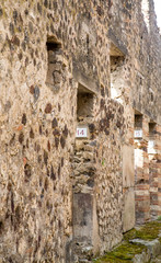 Numbered Homes in Ancient Pompeii