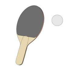 cartoon image of table tennis racket