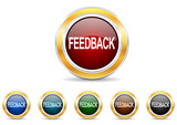feedback icon vector set