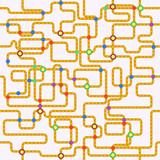 public transport or tube map (fictional), seamless pattern, vect