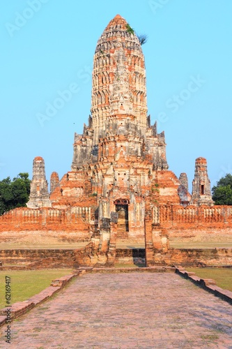 Ayutthaya - ancient temple in Thailand