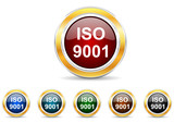 iso 9001 icon vector set