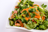 The vegetables salad with lamb´s lettuce