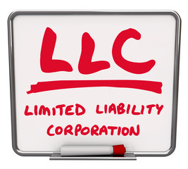 LLC Limited Liability Corporation Words Dry Erase Board Marker