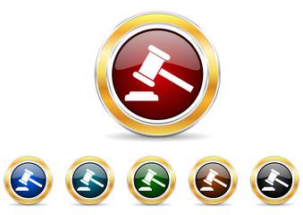 auction icon vector set