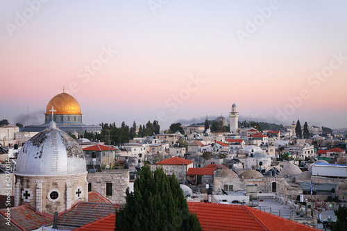 The roofs of the old city of Jerusalem