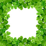 St. Patrick's frame with shamrock. Vector illustration.