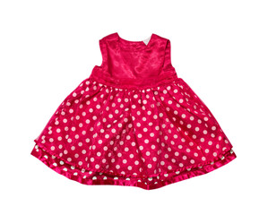 Red baby girl dress.