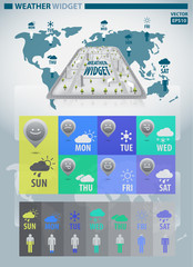 Weather widget infographic vector