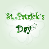 St. Patrick's green abstract background  ,text