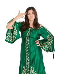 arab dress in kamikaze style