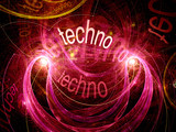 Techno abstract background