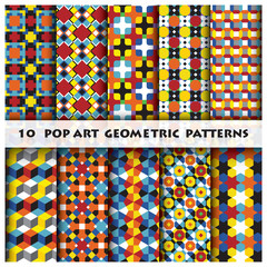 Pop Art Geometric Background Pattern Style