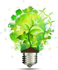 Concetto lampadina risparmio energetico