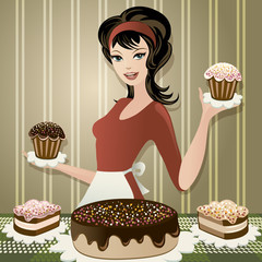 Lovely confectioner