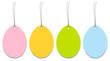 4 Hangtags Easter Eggs Color