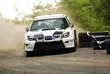 WRC rally car drift
