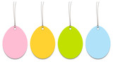 4 Hangtags Easter Eggs Color