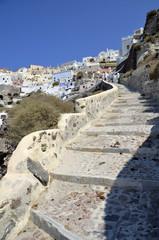 escaleras en Santorini