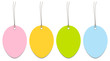4 Easter Hangtags Eggs Color