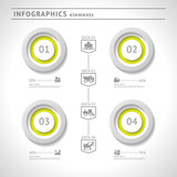 Industrial infographics elements. Modern design template