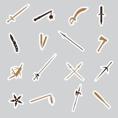 cold steel weapons stickers eps10