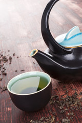 Traditional green tea ceremony.