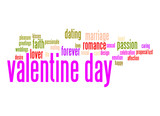 Valentine day word cloud