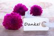 Label with Danke