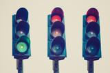 Retro look Traffic light semaphore
