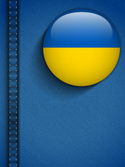 Ukraine Flag Button in Jeans Pocket