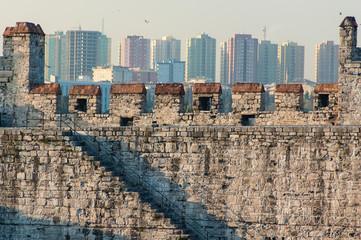 City walls of Istanbul, Turkey